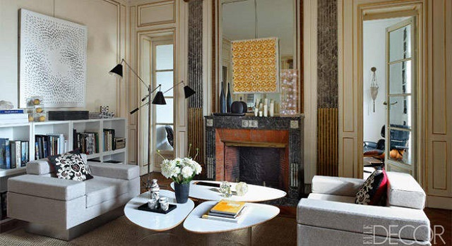 parisian living room living in style the apartment of philippe rapin and 10132