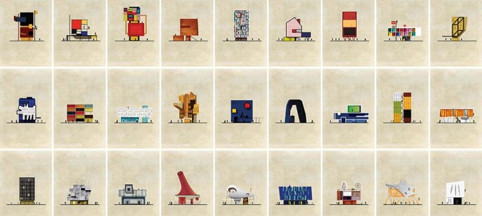 Federico Babina: Art works transformed into Buildings