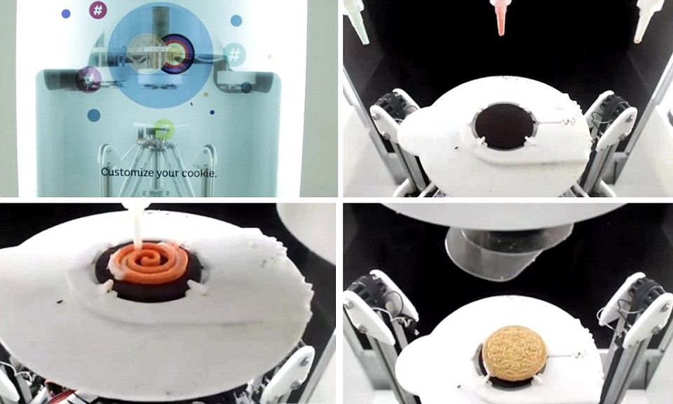 3D Printed Food: Oreo personalized cookies