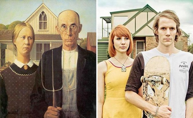 """""""American Gothic"""" by Grant Wood 