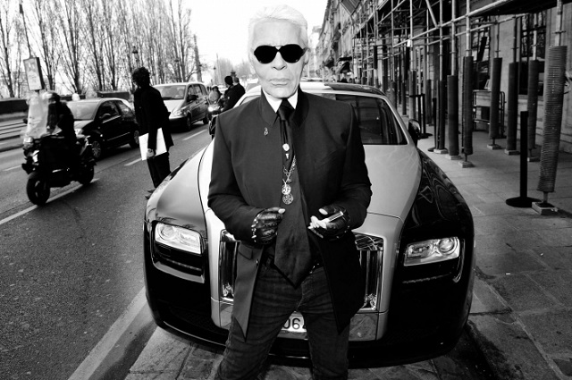 Karl Lagerfeld and his Rolls | Rolls-Royce, a symbol of style   Rolls-Royce, a symbol of style  Karl Lagerfeld Rolls Royce symbol of style mydesignweek