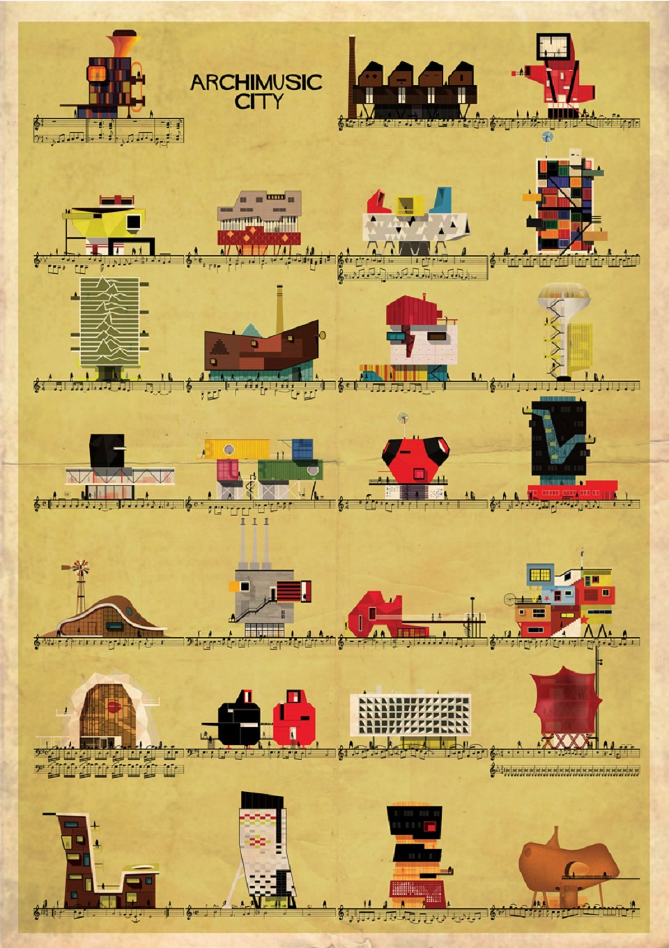 Archimusic City by Federico Babina - where songs become buildings  Archimusic, the new series from Federico Babina Archimusic the new series from Federico Babina mydesignweek