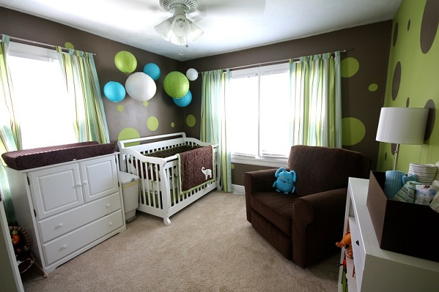 Green and brown   How to decorate a baby's room  How to decorate a baby's room green and brown baby room design How to decorate a babys room mydesignweek