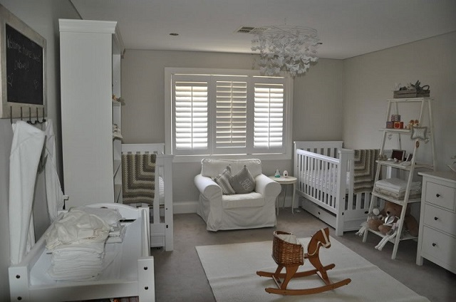 How to decorate a baby s room my design week - White and grey nursery ideas ...