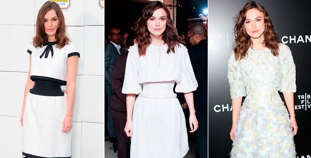 Keira Knightley wearing Chanel