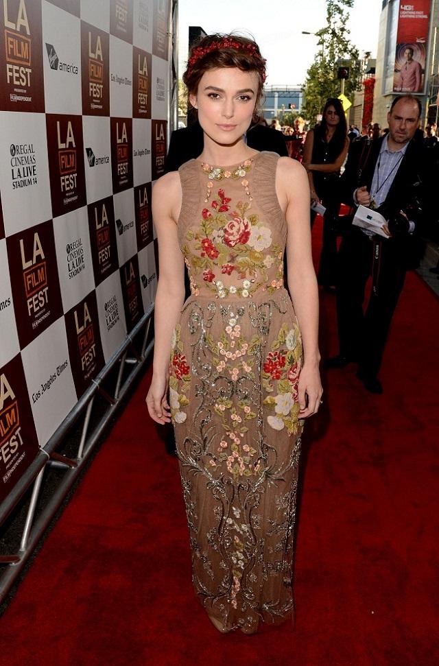 Keira Knightley wearing Valentino  MDW celebrity style report: Keira Knightley Keira Knightley valentino celebrity style