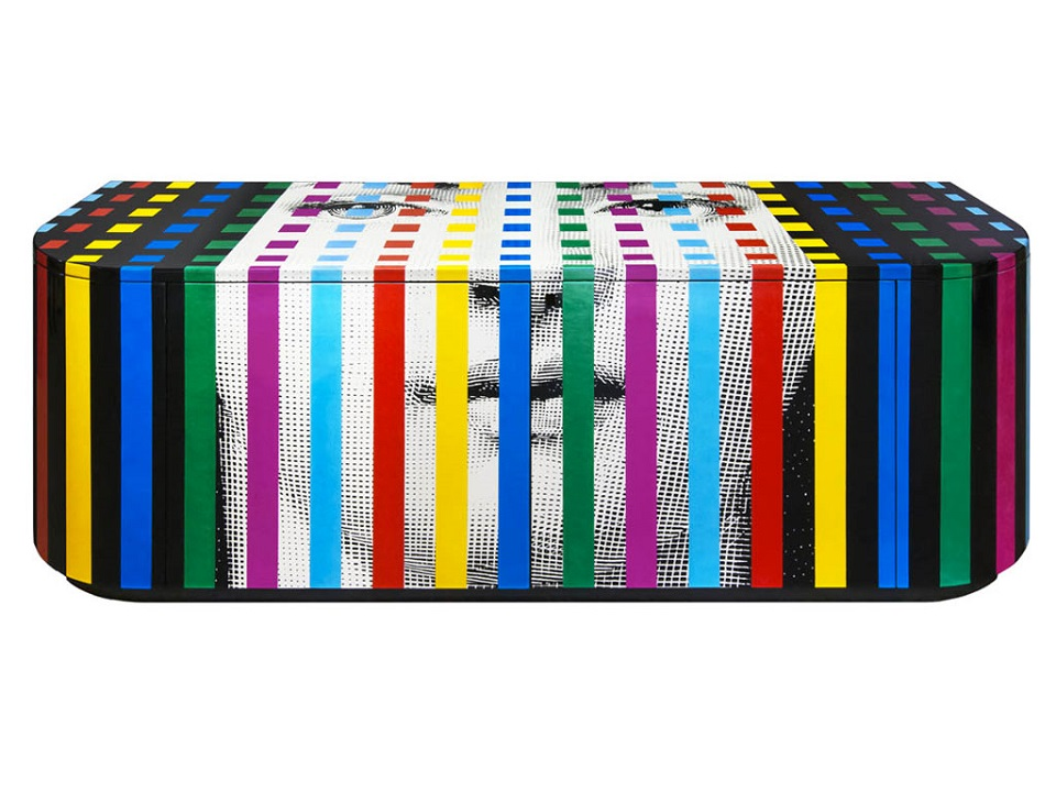 Chic Furniture Ideas inspired by Pop-Art pop art furniture buffet by Fornasetti