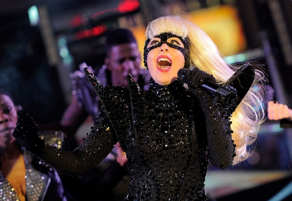 Lady Gaga's Weirdest Outfits  Lady Gaga Performs in Times Square on New Years Eve 1