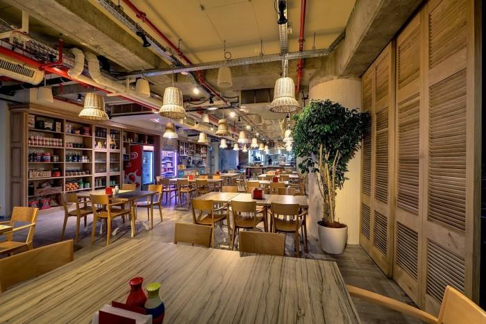 Inside the Google Office in Tel Aviv  Inside the Google Office in Tel Aviv Google Office Tel Aviv cafeteria2