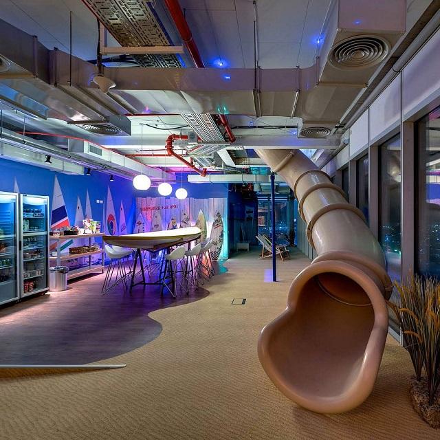 Inside the Google Office in Tel Aviv  Inside the Google Office in Tel Aviv Google Office Tel Aviv swing2