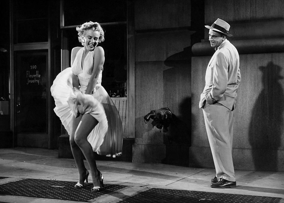 Fashion evolution: the 'naked dress' Fashion Evolution Naked Dress Marilyn Monroe dress blowing