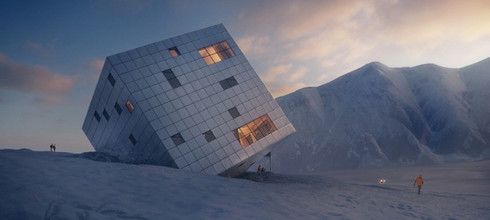 Kežmarské Hut: the futuristic mountain lodge by Atelier 8000