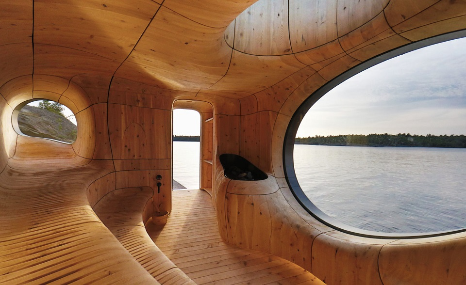 Best of the Year 2014: Interior Design Projects  Best of 2014: Interior Design Projects Partisan Grotto Sauna Project Best of 2014 Interior Design Projects